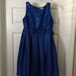 Royal Blue Sequined Party Dress